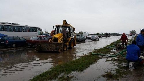 Termica Distribuție Năvodari participă la refacerea traficului de pe DJ 266