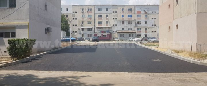 Lărgire și asfaltare intrare parcare str. Albinelor (bl. 16EST – bl. 20EST)