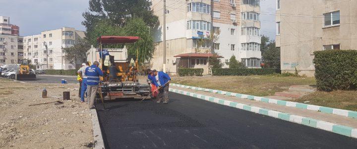 Termica Distribuție Năvodari asfaltează noi străzi